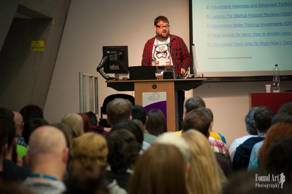 2016 WordCamp London. Rhys Wynne, Speaker